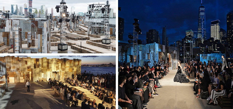 Givenchy fashion show stage design